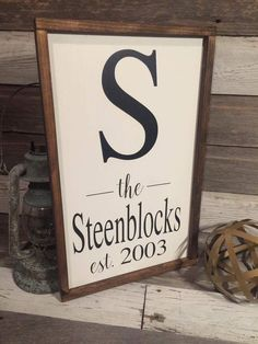 A personal favorite from my Etsy shop https://www.etsy.com/listing/473624353/farmhouse-last-name-signs