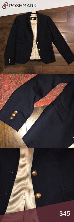 J. crew Navy schoolboy blazer with gold buttons Preppy blazer - navy with gold buttons. Barely worn. J. Crew Jackets & Coats Blazers