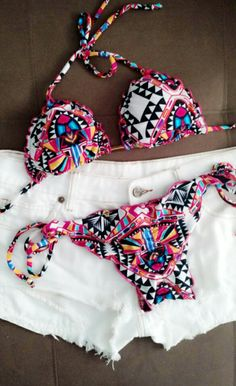 Biquini ripple estampado Cute Swimsuits, Cute Bikinis, Women Swimsuits, Summer Bathing Suits, Bikini Outfits, Cute Lingerie, Beachwear For Women, The Bikini, Swim Dress