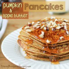 apple butter pancakes, appl butter, pumpkin appl