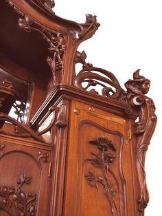 Impressive Art Nouveau Austrian Server or Back Bar 6