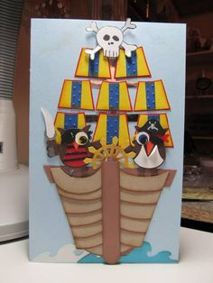 Pirate Ship! by figaro - Cards and Paper Crafts at Splitcoaststampers