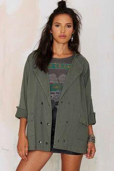 Mara Twill Army Jacket | Shop Clothes at Nasty Gal!