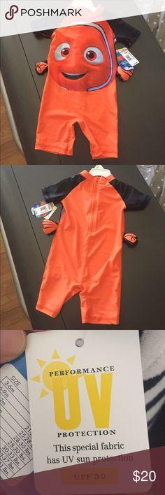 Nemo Bathing Suit Cute one piece for ur little one Splish Splash time 🐟 Disney Swim One Piece