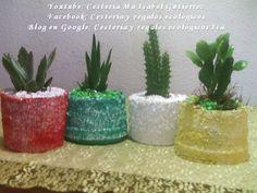 Como hacer macetas con potes de plástico. DIY. How to make pots with pla...