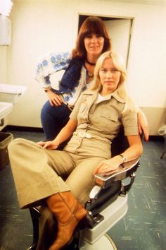 Casual (but selected) outfits, 1970s (Frida & Agnetha of ABBA)