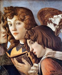 Sandro Botticelli - Madonna of the Pomegranate (detail).