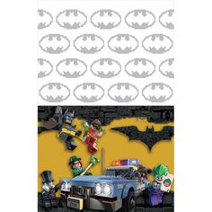 Check out Lego Batman Plastic Table Cover | Lego Batman party supplies from Birthday in a Box from Birthday In A Box