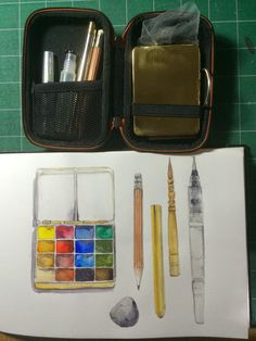 Jane Blundell travel kit in Moleskine hard shell case