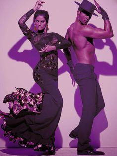 Isabeli Fontana and Timo Nunez for Vogue Italia by Steven Meisel