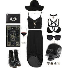 i fink ur freeky Summer goth Metal Fashion, Dark Fashion, Grunge Fashion, Gothic Fashion, Latex Fashion, School Looks, Grunge Style, Soft Grunge, Black Grunge