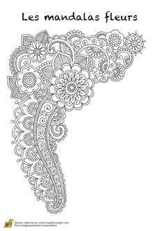 Mehndi, Doodle Coloring, Mandala Coloring, Coloring Book Pages, Printable Coloring Pages, Zentangle Patterns, Embroidery Patterns, Zentangles, Mandala Original