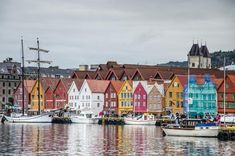 Malebné domečky Bryggen Trondheim, Bergen, Rafting, New York Skyline, Travelling