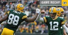 Jermichael Finley #88 and Aaron Rodgers #12