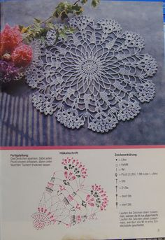 Crocheted motif no. Crochet Dollies, Crochet Lace Edging, Crochet Doily Patterns, Crochet Mandala, Thread Crochet, Filet Crochet, Crochet Flowers, Crochet Home, Crochet Baby