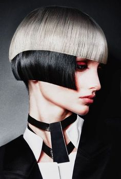 black and white Mod Hair, Avant Garde Hair, Hair Art, Cut And Color, Hair Designs, Cool Hairstyles, Short Hair Styles, Hair Makeup, Hair Color