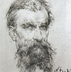 Nicolai Fechin, charcoal drawing portrait by deflam, via Flickr