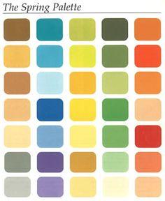 capsule wardrobe for spring color palette | Spring Palette                                                                                                                                                                                 More