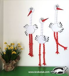 PAPER STORK children activities, more than 2000 coloring pages Animal Crafts For Kids, Spring Crafts For Kids, Fall Crafts, Easter Crafts, Art For Kids, Diy And Crafts, Diy Projects For Adults, Toilet Paper Crafts, Card Making Templates