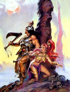 Another great cover by Earl Norem for 'Savage Sword of Conan' No.218