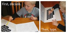 Keyboard codes - a great way to practice spelling (and sight) words!