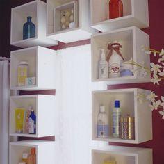 Organizando as coisas no banheiro