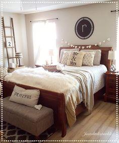 Cozy master bedroom, rustic master bedroom