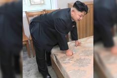 Kim Jong-un is an easy target for humor of all kinds, and it doesn't look as if that will change anytime soon. A photo was snapped of the North Korean leader bending over a mattress and assumedly feeling it for firmness by pressing on it with his hands. That's really all the encouragement anyone with photoshop needed.