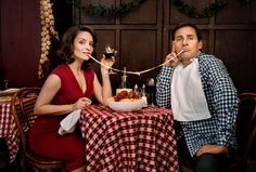 #Celebrity Portraits by Martin Schoeller: Tina Fey and Steve Carell
