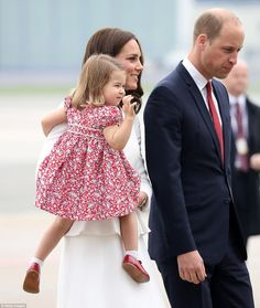 The royal wave! While George may be feeling a little shy, his younger sister is already a ...