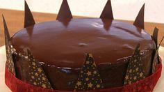 Ultimate glazed chocolate cake