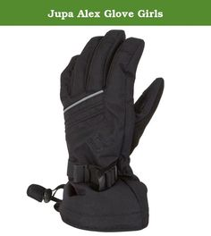 Jupa Alex Glove Girls. The Jupa Alex Glove is a durable waterproof kids ski glove 170g of Thermadux insulation keeps fingers warm and waterproof fabric ensures they stay dry too The Alex Glove has a long gauntlet that fits over jacket cuffs to keep out snow An adjustable cuff provides a secure fit Durable 100pct polyester dobby fabric 100pct polyester brushed tricot lining for warmth and soft feel 5K Wateproof / 5K Breathable to keep hands dry 170g Thermadux insulation for lots of warmth...