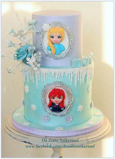 Frozen, (what else.... ;-) ) - Cake by De Zoete Suikertoef