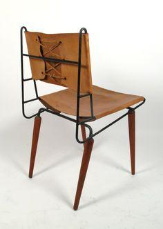 Dirk Van Sliedregt; Enameled Metal And Cane Chair For Goed Wonen, 1950s. |  S I T D O W N | Pinterest | 1950s, Vans And Metals