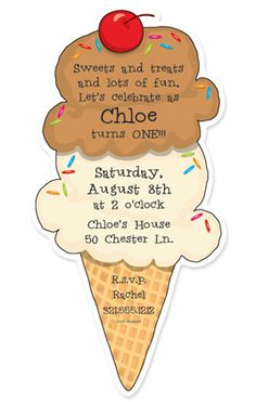 3 scoops ice cream birthday invitation jen arnold for sydney