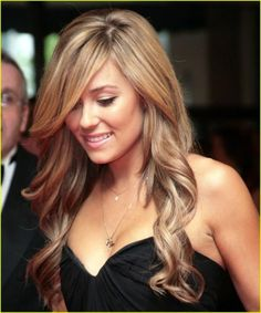 Dark Blonde with wavy curls. Want this for Erica's wedding