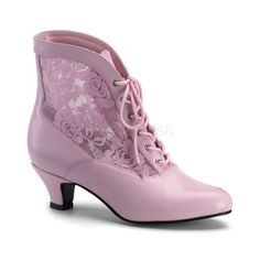 05acc78bd5f67 VICTORIAN-30 Fabulicious Sexy Shoes 2 3 4 Inch Flaired Heel Lace Up ...