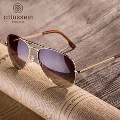 ad978bfdfd Polarized sunglasses brand designer classic metal sun glasses for women men  brown black lens fashion style