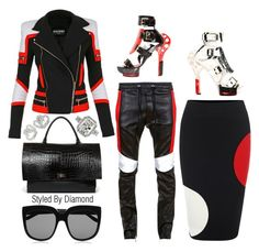 NYFW: Tricolor by diamxo on Polyvore featuring polyvore, fashion, style, Alexander McQueen, Balmain, Givenchy, Keleo, STELLA McCARTNEY, women's clothing, women's fashion, women, female, woman, misses, juniors, NYFW, AlexanderMcQueen, balmain and NYFW2015