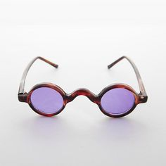 1c38fc5e37 The ultimate small round little hippie sunglass. Awesome saddle bridge  sunglass with fun and functional