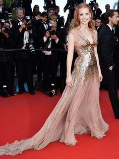 Jessica Chastain Best Red Carpet Moments - Jessica Chastain Red Carpet Fashion - Marie Claire