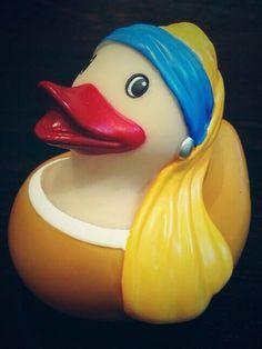 Vermeer - Meisje met de parel (badeend)