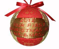 Fabric Ornament Holiday Decoration Kimekomi by craftcrazy4u, $18.00