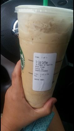 When you go to Starbucks order iced coffee and have them double blend it