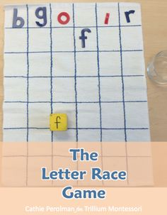 The Letter Race Game A fun way to practice letters