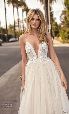 berta 2019 muse bridal sleeveless spaghetti strap deep pluning sweetheart neckline heavily embellished bodice ball gown a line wedding dress open back chapel train (10) zv