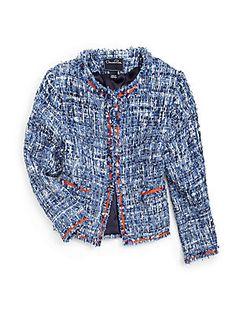 Oscar de la Renta Girl's Tweed Jacket Friday night