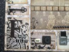 Stamped background