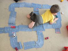 walk in the sunshine: Denim Roads for Toy Cars