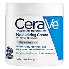 CeraVe Moisturizing Cream 19 oz Daily Face and Body Moisturizer for Dry Skin - Beauty Tips And Tricks Best Body Moisturizer, Hyaluronic Acid Moisturizer, Moisturizer For Dry Skin, Oily Skin, Sensitive Skin, The Body Shop, Best Body Cream, Burt's Bees, Best Lotion